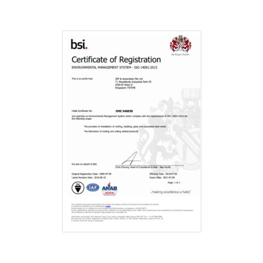 Environmental Management System – ISO 14001: 2015