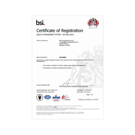 Quality Management System - ISO 9001: 2015